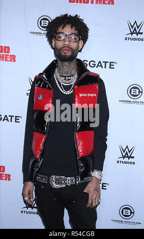 New York, USA. November 29, 2018PnB Rock attend Lionsgate presents a special screening of Blood Brothers at Regal Battery Park Stadium 13 in New York. November 29, 2018 Credit:RW/MediaPunch Credit: MediaPunch Inc/Alamy Live News - Stock Photo