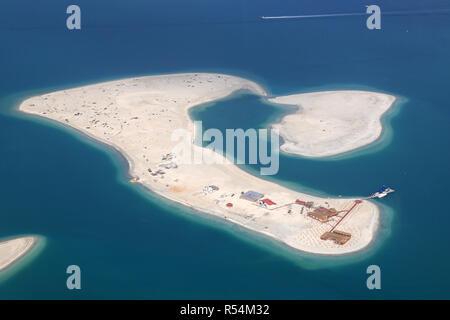 dubai the world world island clarence aerial aerial view - Stock Photo