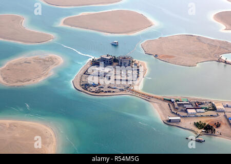 dubai the world world island islands germany austria switzerland aerial view aerial view - Stock Photo