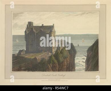 Dunbeath Castle in Caithness. The coastline and landscape of Great Britain. Drawn and engraved by William Daniell. A Voyage round Great Britain undertaken in the summer of the year 1813. With a series of views illustrative of the character and prominent features of the coast, drawn and engraved by William Daniell. Longman: London, 1814-25. Source: G.7045 plate 162. Language: English. Author: DANIELL, WILLIAM. AYTON, RICHARD. - Stock Photo