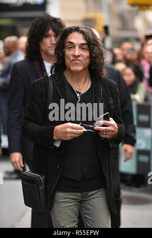 Paul Stanley of the band Kiss attends the Build Series to discuss their final 'End of the Road' world tour at Build Studio on October 29, 2018 in New  - Stock Photo