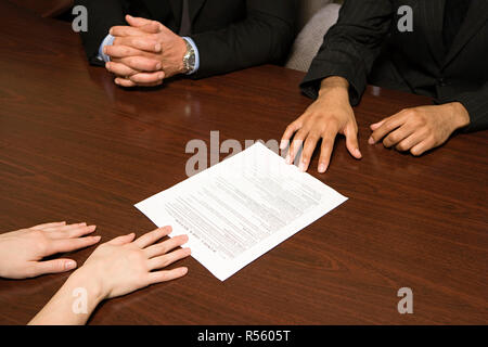 Businesspeople with resume - Stock Photo
