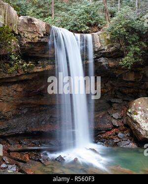 Cucumber Falls in Ohiopyle State Park - Stock Photo