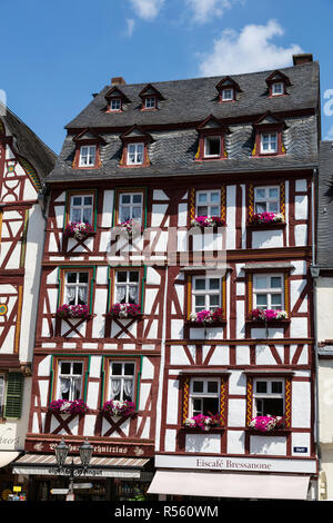 Bernkastel, Germany.  A Half-timbered House on the Market Square.