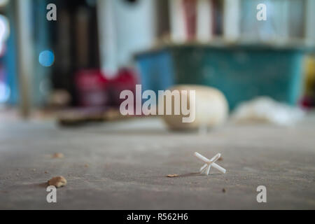 Closeup on floor in construction site - Stock Photo