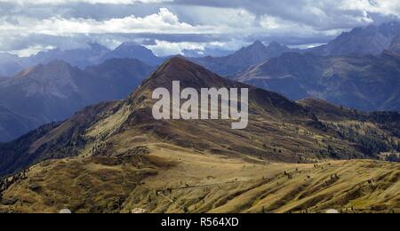 Beautiful mountain landscape around the Cinque Torri. Dolomites, Italy - Stock Photo