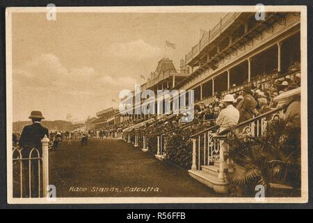 A view of the race stands, Calcutta. Robert Charles Chase Collection: Miscellaneous Postcards Of India. c.1920s.    . Source: Photo 390/5(25). - Stock Photo
