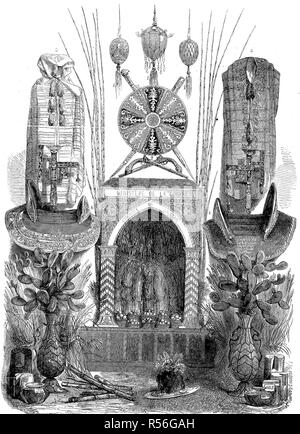 The international exposition 1855, Paris, France, exhibition with the products of Algier, Algeria, woodcut, France - Stock Photo