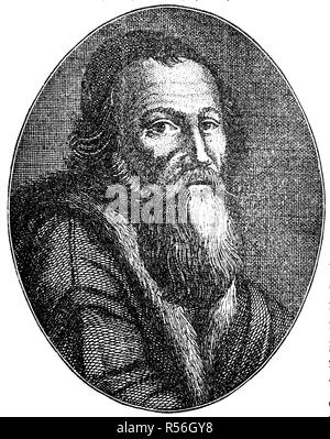 John Amos Comenius, Jan Amos Komensky, a Czech philosopher, pedagogue and theologian from the Margraviate of Moravia, 1592, 1670 - Stock Photo