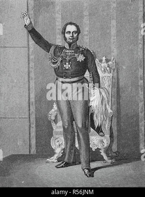 Frederick William IV of Prussia, October 15, 1795, January 2, 1861, at the opening of the first United Diet on March 11, 1847 - Stock Photo