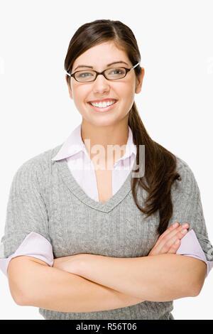 Geeky girl - Stock Photo