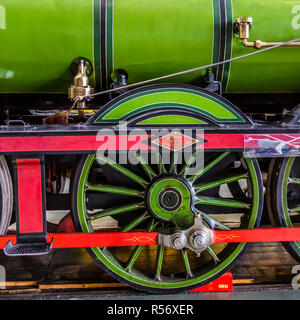 Early days of steam locomotives at National Railway Museum. - Stock Photo