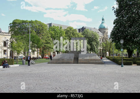 HANOVER, GERMANY - MAY 03: Jewish Memorial in Hannover on MAY 03, 2011. Landmark to the Murdered Jews of Hanover, Germany. - Stock Photo