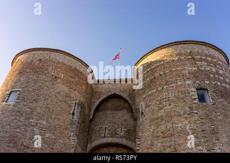 Europe, Belgium, Bruges, Gentpoort, - Stock Photo