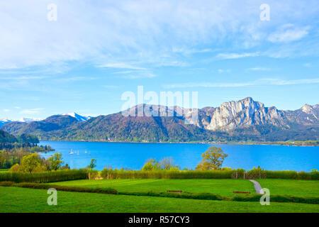 Beautiful landscape with Alps, Salzburger Land, Austria - Stock Photo