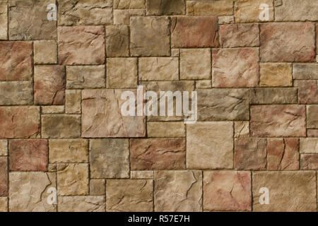Textured Marble Look Stone Brick Wall Background In Shades