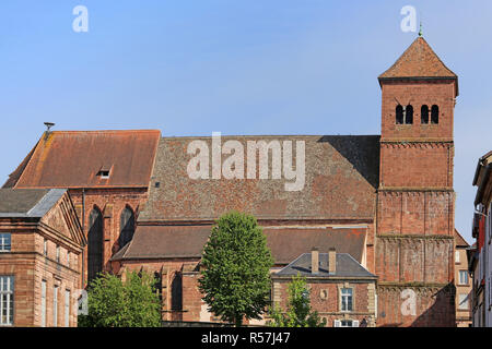 church notre-dame in saverne - Stock Photo