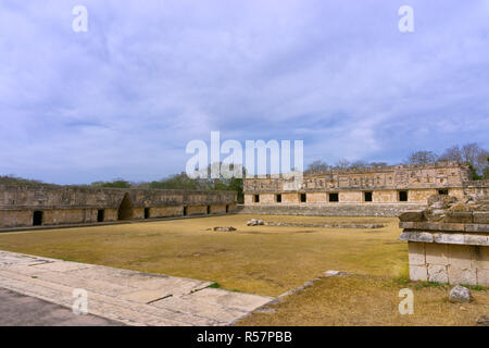 Ruins in Uxmal Known as the Nunnery - Stock Photo