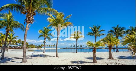 round beach in miami florida usa - Stock Photo