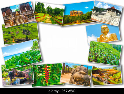 Collage from images of Sri Lanka - Stock Photo