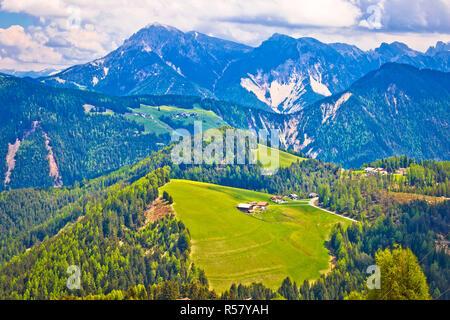 Dolomiti Alps in Alta Badia landscape view - Stock Photo