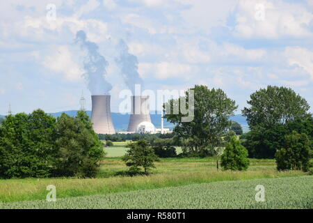 nuclear power plant grohnde - Stock Photo