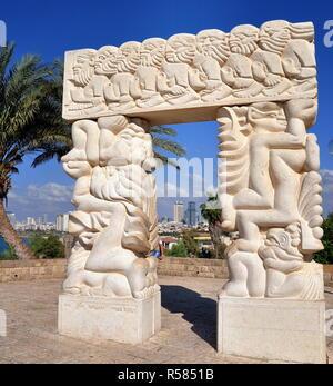 tel aviv - gate of faith in abrasha park of old jaffa