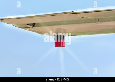 position lighting of an aircraft. - Stock Photo