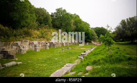 Ruins of an ancient Greek city of Apollonia at Fier County, Albania - Stock Photo