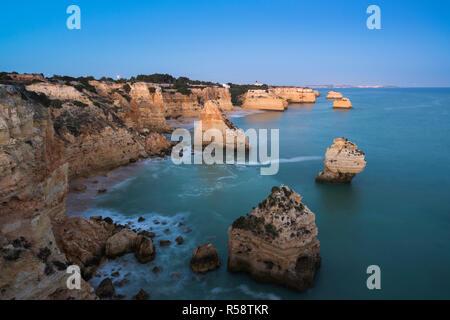 Praia da marinha at morning light, Lagoa, Algarve, Portugal - Stock Photo