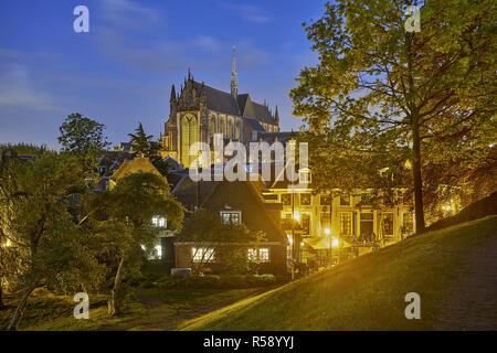 Hooglandse Kerk, view from the castle, Leiden, South Holland, Netherlands - Stock Photo