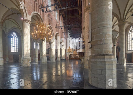 Pieterskerk in Leiden, South Holland, Netherlands - Stock Photo