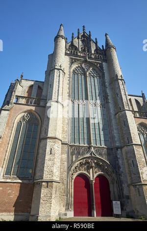 Facade of the Hooglandse Kerk, Leiden, Benelux, Benelux states, South Holland, Netherlands - Stock Photo