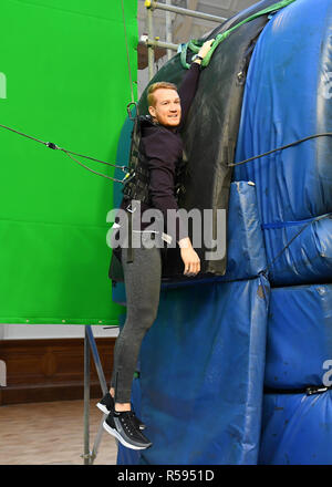 London, UK. 30th November, 2018. Greg Rutherford Launches New Experience Called: MISSION: IMPOSSIBLE – FALLOUT – THE LONG JUMP during Celebrate The Blu-Ray And DVD Release Of Mission: Impossible – Fallout at Lindley Hall on Friday, 30 November 2018. LONDON, ENGLAND. (Editorial use only, license required for commercial use. No use in betting, games or a single club/league/player publications.) Credit: Taka G Wu/Alamy News - Stock Photo