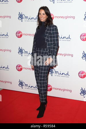 London, UK. 29th Nov, 2018. Andrea McLean seen during the Virgin Money Giving Mind Media Awards at the Queen Elizabeth Hall, Southbank Centre. Credit: Keith Mayhew/SOPA Images/ZUMA Wire/Alamy Live News - Stock Photo