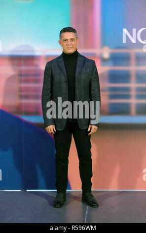 "Singer Alejandro Sanz during presentation of his single "" No tengo Nada "" in Madrid on Friday , 30 November 2018 - Stock Photo"