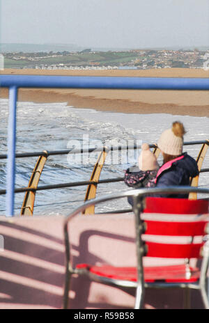 Chesil Beach, Dorset. 30th November 2018. After days of being pounded by storm Diana, Chesil Beach sees the welcome return of sunshine on the Isle of Portland in Dorset Credit: stuart fretwell/Alamy Live News - Stock Photo