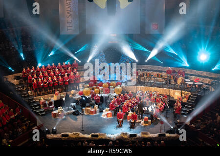 London, UK. 29th Nov, 2018. Salvation Army Christmas Concert at the Royal Albert Hall, Credit: Mark O'Brien/Alamy Live News. - Stock Photo