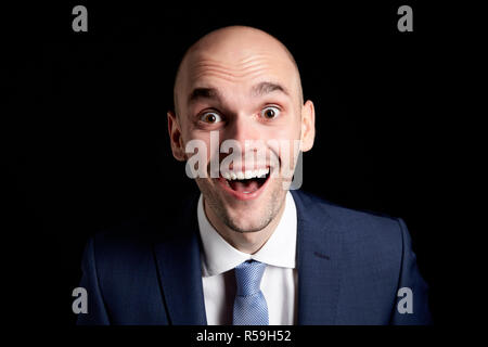 Happy Man in Suit - Stock Photo