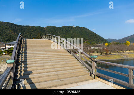 Kintaikyo Bridge in Iwakuni - Stock Photo