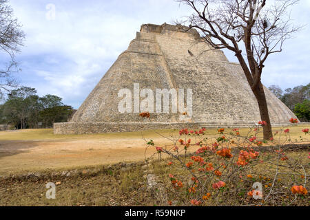 Magician's House in Uxmal - Stock Photo