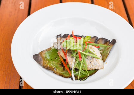 grilled Sea Bass - Stock Photo
