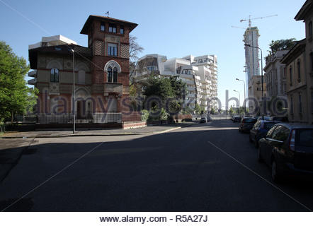allianz tower, citylife, milan - Stock Photo
