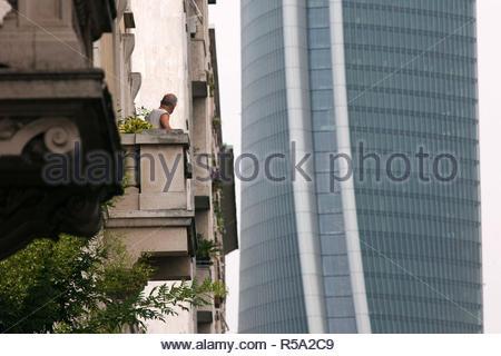 hadid tower, citylife, milano - Stock Photo