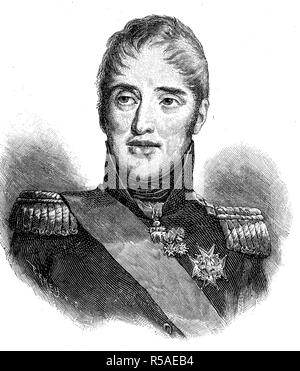 King Charles X, October 9, 1757, November 6, 1836, from the House of Bourbon the last ruler of France, woodcut, France - Stock Photo