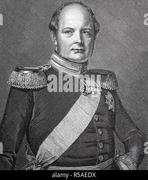 Friedrich Wilhelm IV, 15 October 1795, 2 January 1861, King of Prussia, woodcut, Germany - Stock Photo