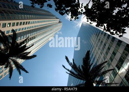 skyscrapers in downtown los angeles,california - Stock Photo