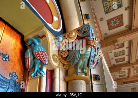 Niederösterreich, Berndorf, Romanische Stilklasse in den von Arthur Krupp errichteten Schulen, 1896 - Lower Austria, Berndorf, Romanesque Style Classr - Stock Photo