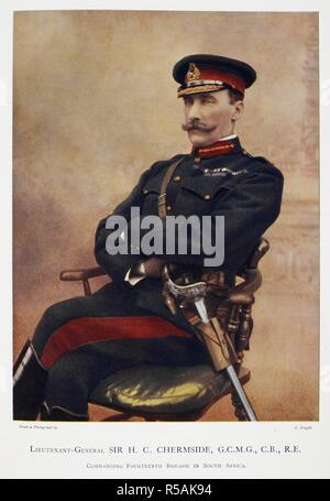 Lieutenant-General Sir Herbert Charles Chermside G.C.M.G., C.B., R.E. (1850-1929). Celebrities of the Army. [Coloured portraits, with short biographical notices.]. London : George Newnes, 1900. Source: 1766.a.3, page 57. Language: English. Author: Robinson, Charles Napier. - Stock Photo