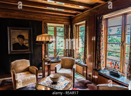 Luxurious interior design of the Van Buuren museum in Uccle, Brussels, Belgium - Stock Photo